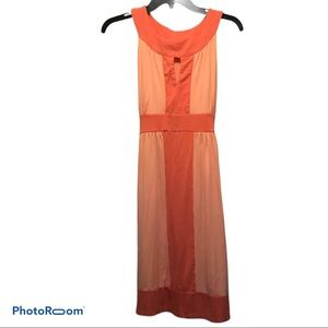 New York & Co Coral Key Hole Summer Dress Size 6